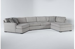 """Aspen Sterling Foam 3 Piece 163"""" Sectional With Right Arm Facing Armless Chaise"""