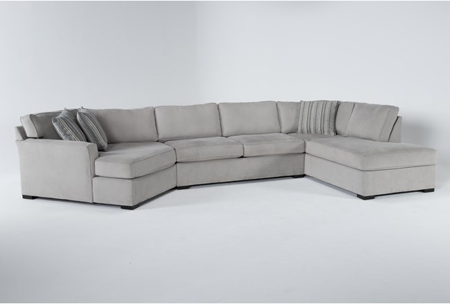 """Aspen Sterling Foam 3 Piece 163"""" Sectional With Right Arm Facing Armless Chaise - 360"""