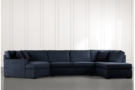 Aspen Navy Blue 3 Piece Sectional