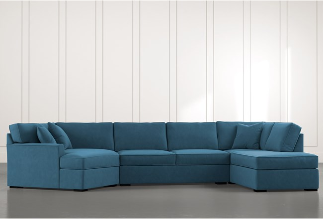 Aspen Teal 3 Piece Sectional - 360