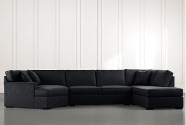 Aspen Black 3 Piece Sectional