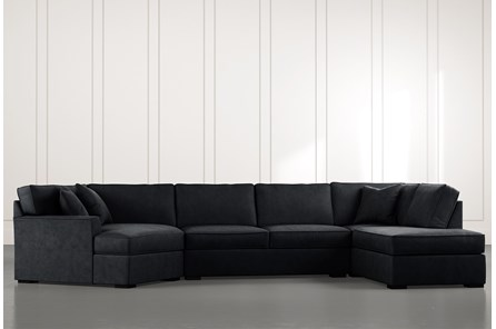 Aspen Black 3 Piece Sectional