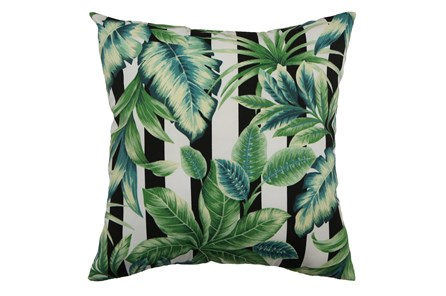 Outdoor Accent Pillow-Palm Cabana Stripe 18X18 - Main