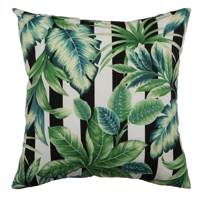 Outdoor Accent Pillow-Palm Cabana Stripe 18X18 - 360