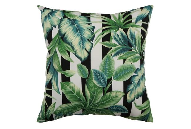 Outdoor Accent Pillow-Palm Cabana Stripe 18X18 - 360
