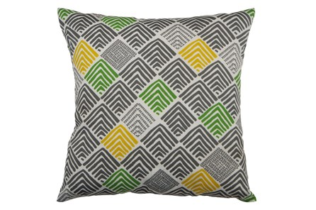 Outdoor Accent Pillow-Green And Yellow Peaks 18X18 - Main