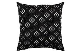Outdoor Accent Pillow-Black Birdseye 18X18
