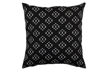 Outdoor Accent Pillow-Black Birdseye 18X18