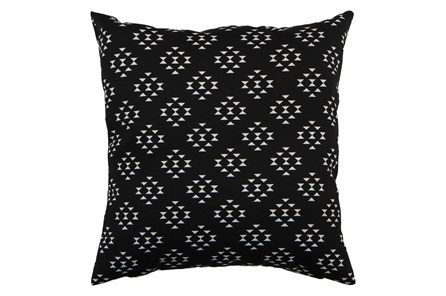 Outdoor Accent Pillow-Black Birdseye 18X18 - Main