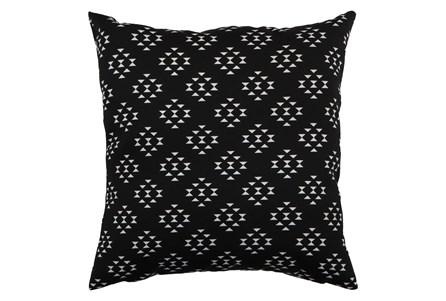Outdoor Accent Pillow-Black Birdseye 18X18 - Main
