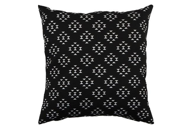 Outdoor Accent Pillow-Black Birdseye 18X18 - 360