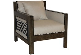 Hand Woven Navy + White Rope Club Chair