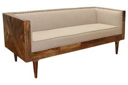 Wood Frame Burnt Tannin Sofa