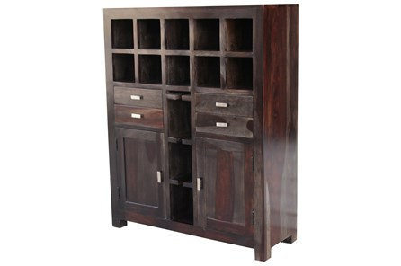 Dark Sheesham Bar Cabinet