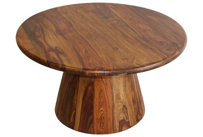 Round Sheesham Coffee Table   - 360