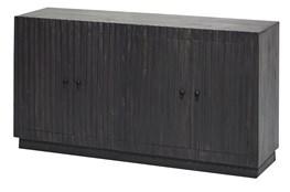 Dark Wood Plinth Base 4 Door Sideboard