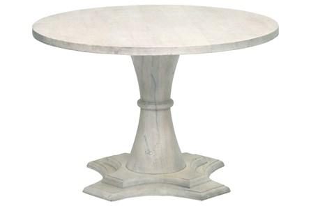Round White Wash Tulip Dining Table