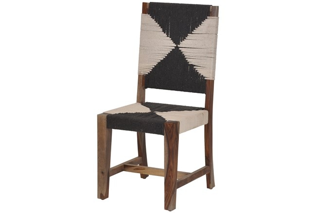 Natural Hand Woven Armless Dining Chair  - 360