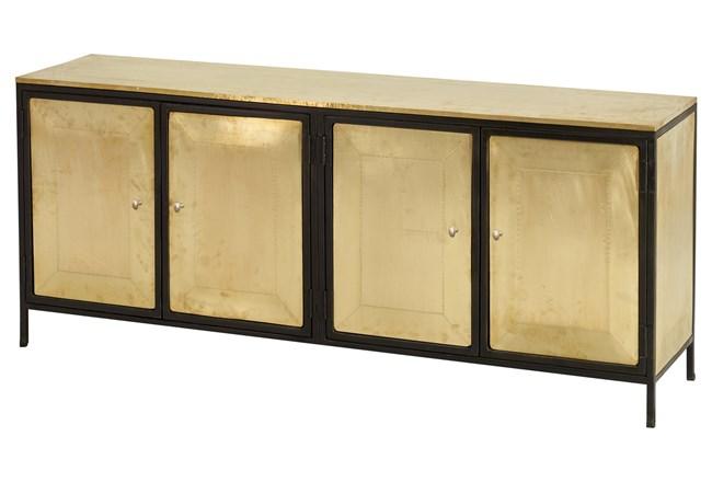 All Over Brass + Black 4 Door Cabinet  - 360