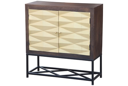 Brass Front 3 Dimensional Cabinet