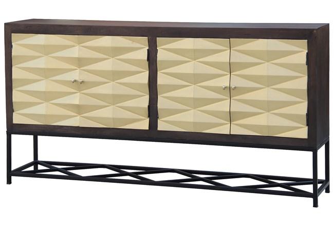 Brass Front 3 Dimensional 4 Door Sideboard  - 360