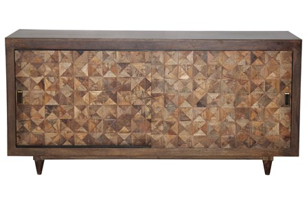 Quilted Timber Sliding Door Sideboard