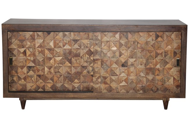 Quilted Timber Sliding Door Sideboard  - 360