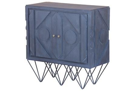 Black Wash Modern 2 Door Cabinet On Stand