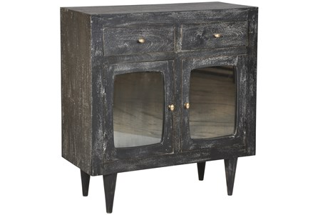 Dark Textured Tinted Glass Cabinet