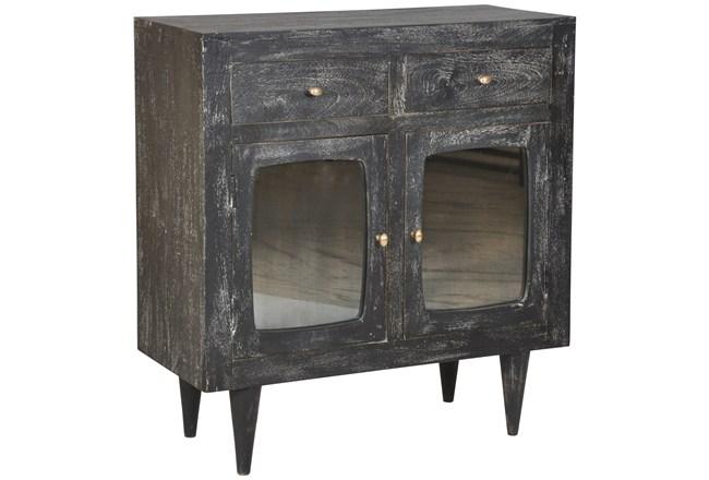 Dark Textured Tinted Glass Cabinet  - 360