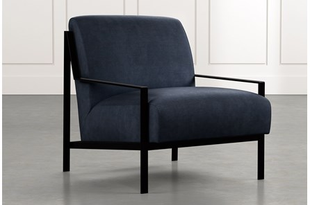 Avery II Navy Blue Accent Chair