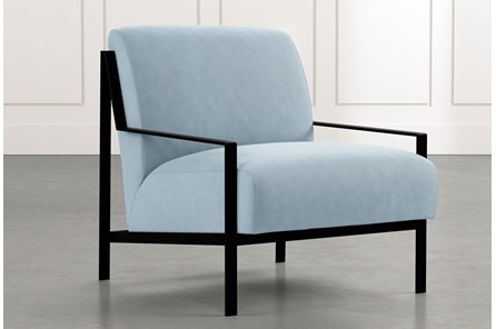 Avery II Light Blue Accent Chair