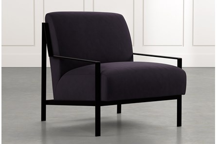 Avery II Black Accent Chair