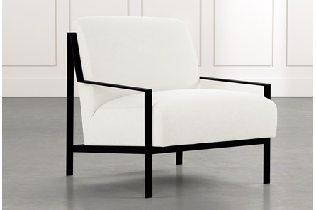 Avery II White Accent Chair