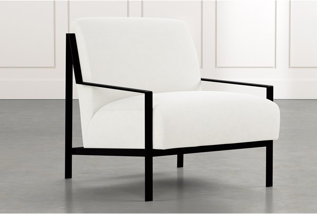 Avery II White Accent Chair - 360