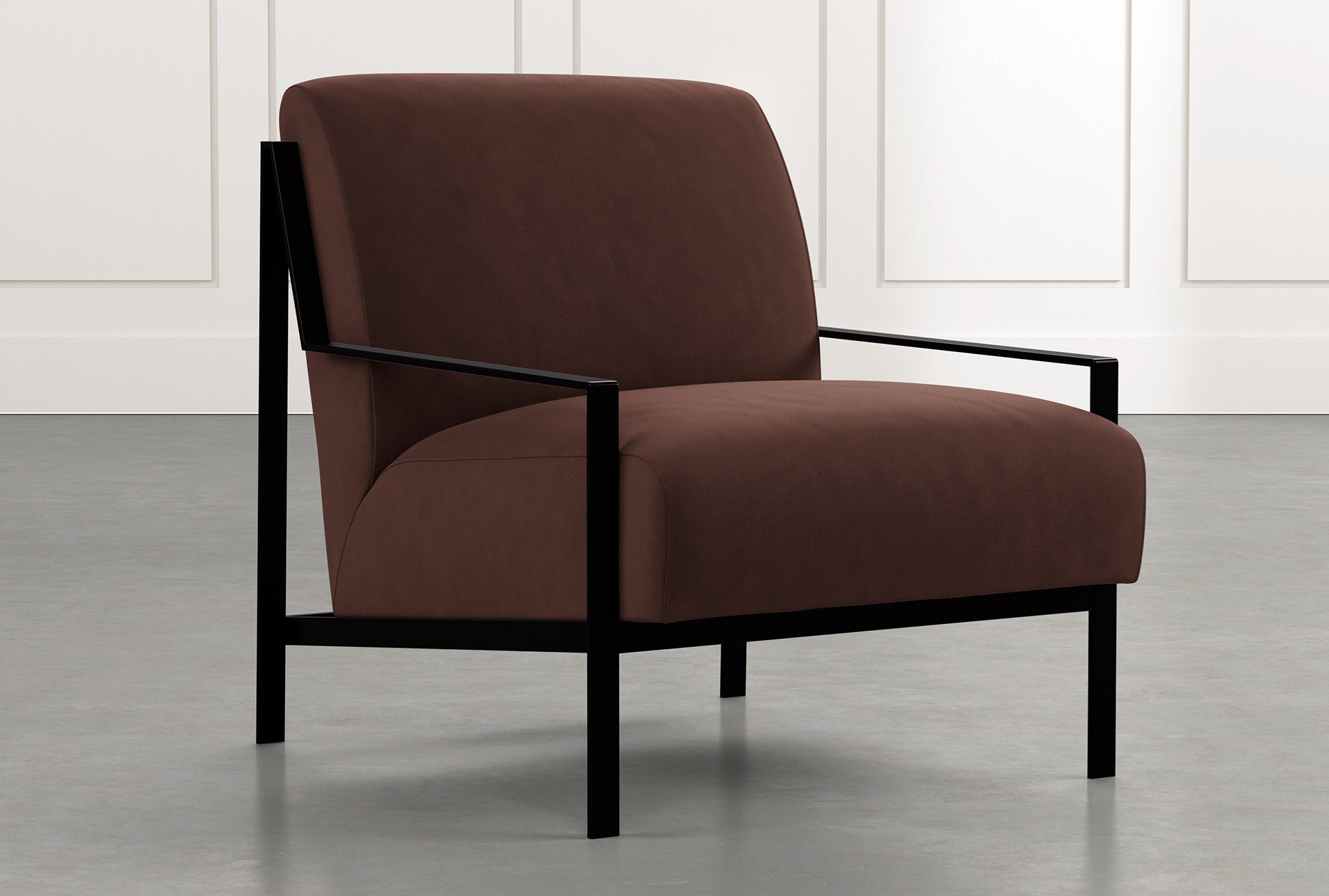 Custom Fabric Accent Chairs.Avery Ii Brown Accent Chair Living Spaces