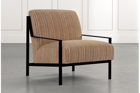 Avery II Orange Striped Accent Chair