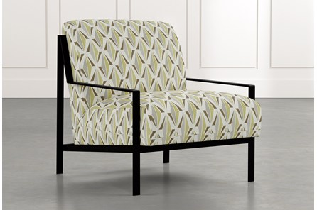 Avery II Green Geometric Accent Chair