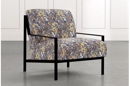 Avery II Yellow Geometric Accent Chair