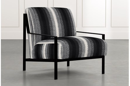 Avery II Black Striped Accent Chair