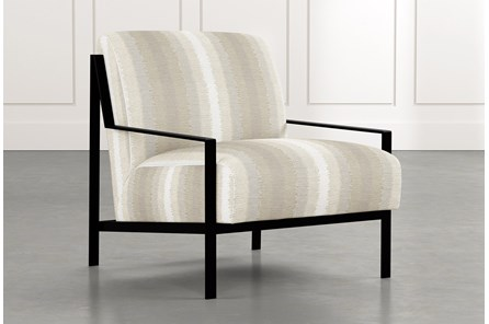 Avery II Natural Striped Accent Chair