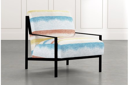 Avery II Striped Accent Chair