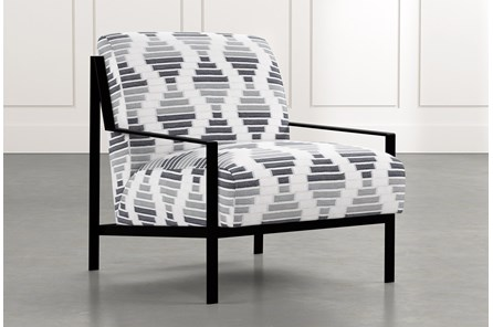 Avery II Grey Geometric Accent Chair