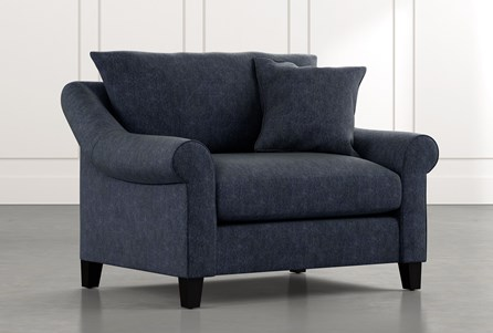 Landry II Navy Blue Chair