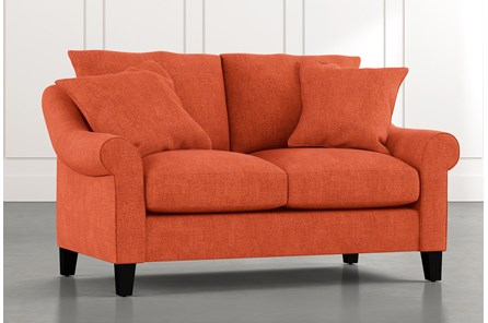Landry II Orange Loveseat