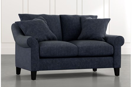 Landry II Navy Blue Loveseat