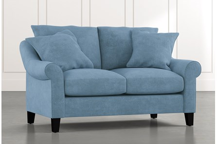 Landry II Light Blue Loveseat