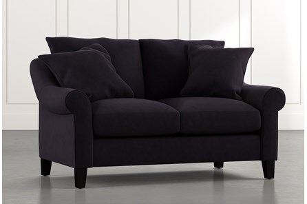 Landry II Black Loveseat