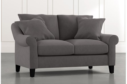 Landry II Dark Grey Loveseat