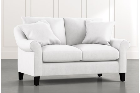 Landry II White Loveseat